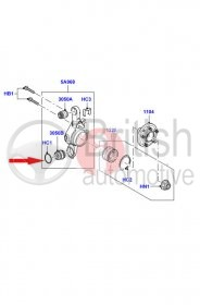 RYV000010- zajišťovací kroužek zadního spodního otočného čepu