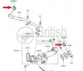 1311338- objímka EGR ventilu motoru 2,7TDV6