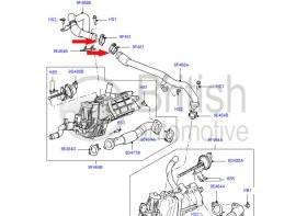 1311338- objímka EGR ventilu motoru 2,7TDV6 a 3.0 Diesel