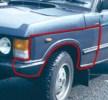 MXC1408R plastový blatník Range Rover I Classic