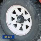 BA 015E- bílý ocelový ráfek (8''x16'')